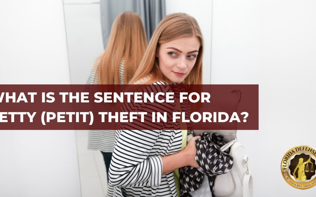 What is The Sentence for Petty (Petit) Theft in Florida?