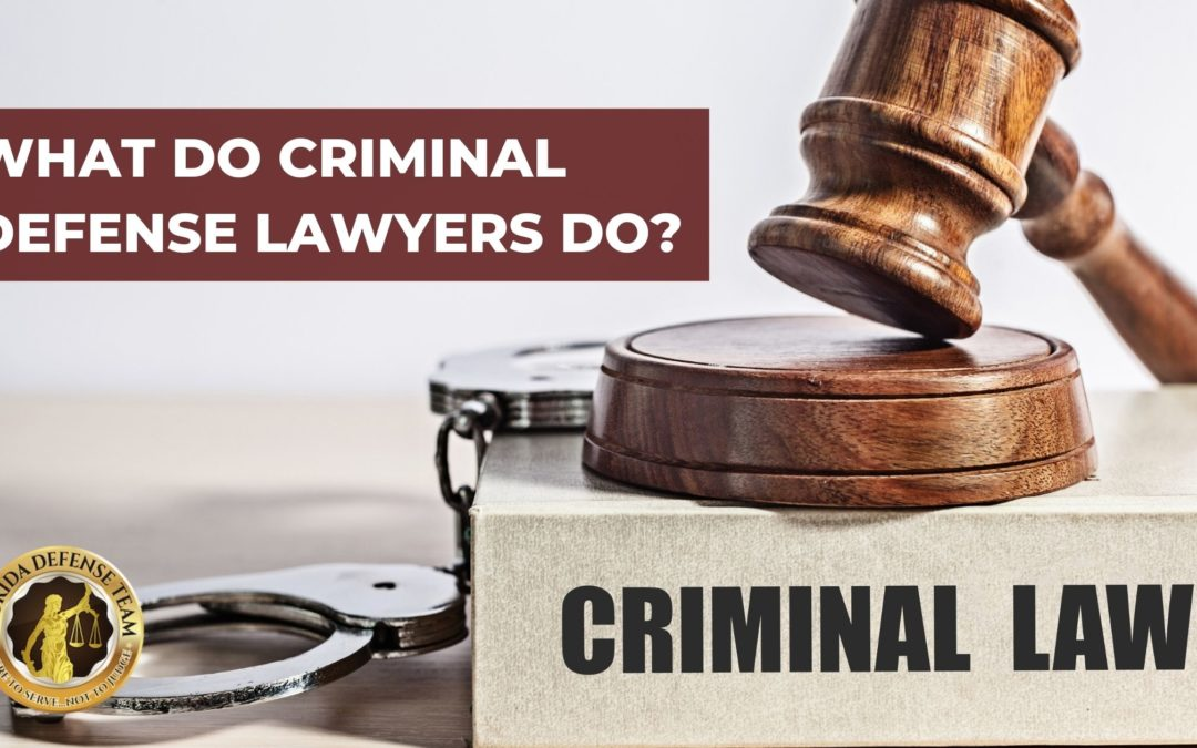 What Do Criminal Defense Lawyers Do?